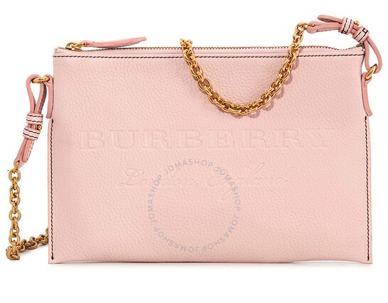 Burberry Leather Clutch Bag – Pale Ash Rose
