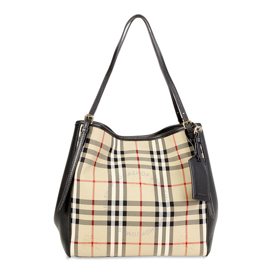 2.Burberry Small Canter Horseferry Check Tote Bag