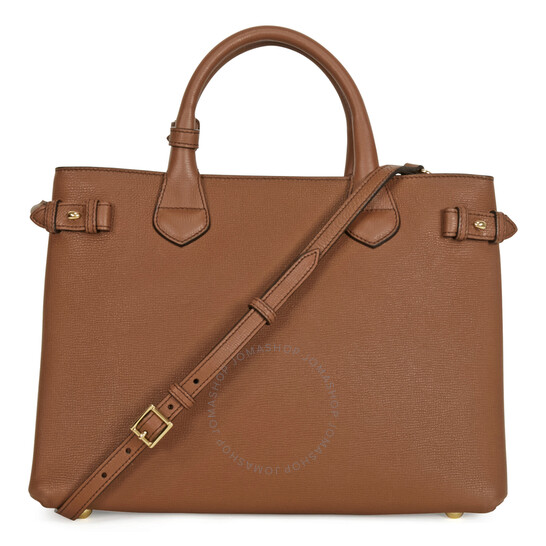 Medium Banner House Check Leather Tote Bag