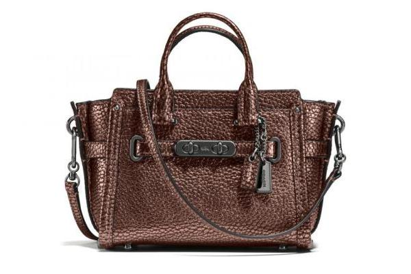 Coach Pebble Leather Swagger