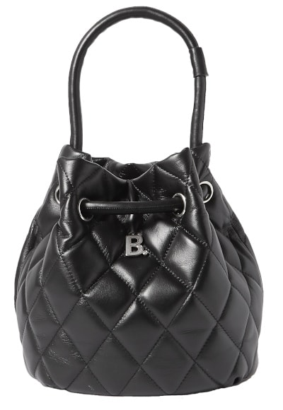 Balenciaga B Dot Quilted Leather Bucket Bag