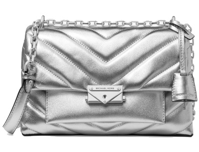 Michael Kors Cece Metallic Leather Convertible Shoulder Bag