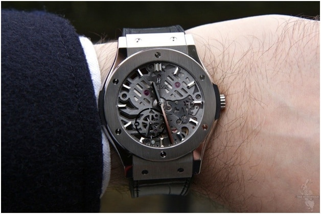 Best Selling Watches for Men 2016 - Hublot Classic Fusion Ultra-Thin Skeleton All Black