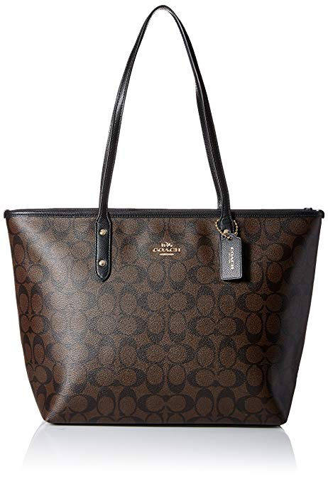 Coach Signature City Zip Tote Bag Handbag