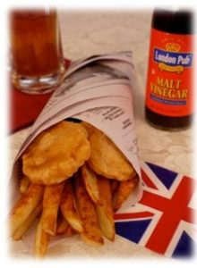 Great Britain's Favourites Dishes - Fish and Chips by the Seashore