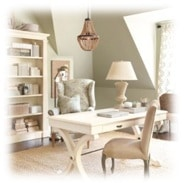 "Hottest ""Woman Cave"" Offices- Go Shabby Chic!"