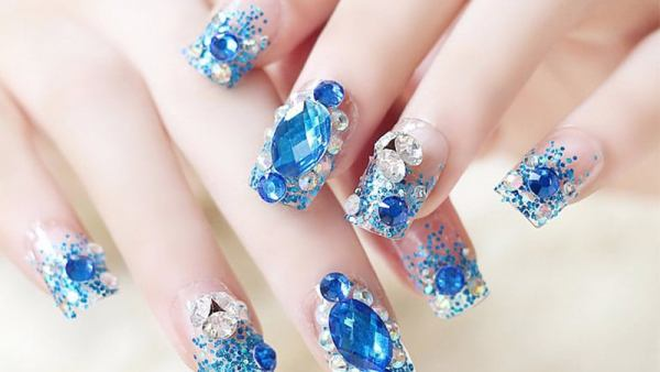 Mermaid 3D Nails