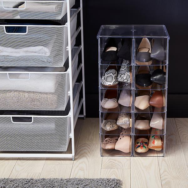 Get some shoe bins - How To Store Shoes