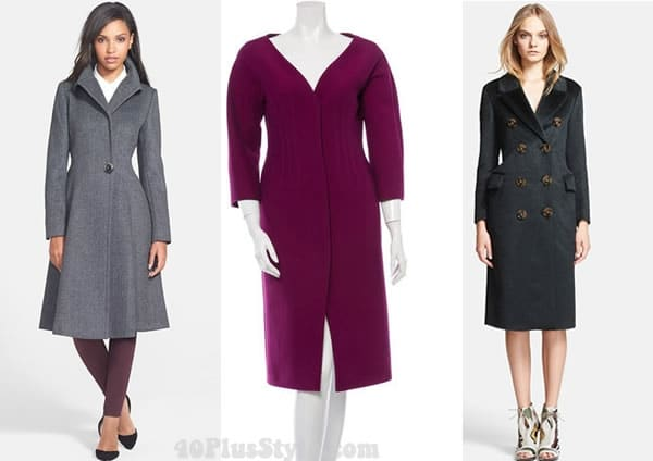 tailored coat for dressy days and evening
