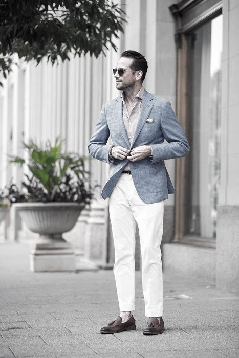 What To Wear With White Jeans For Men 15