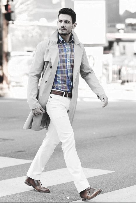 What To Wear With White Jeans For Men 29