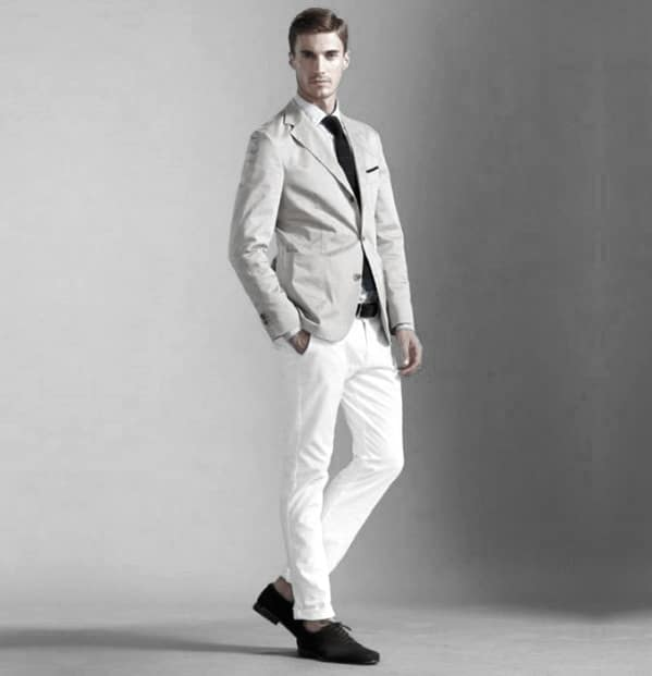 What To Wear With White Jeans For Men 34