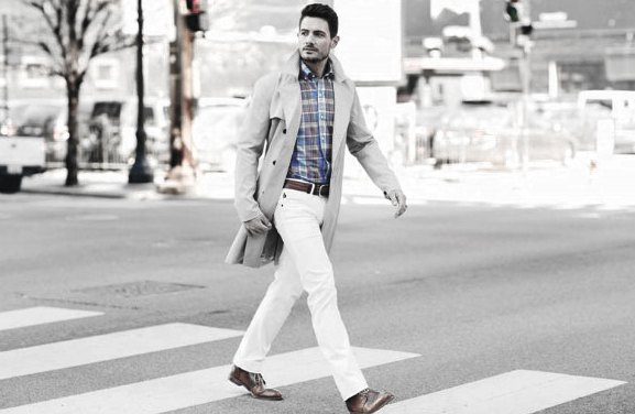What To Wear With White Jeans For Men 36