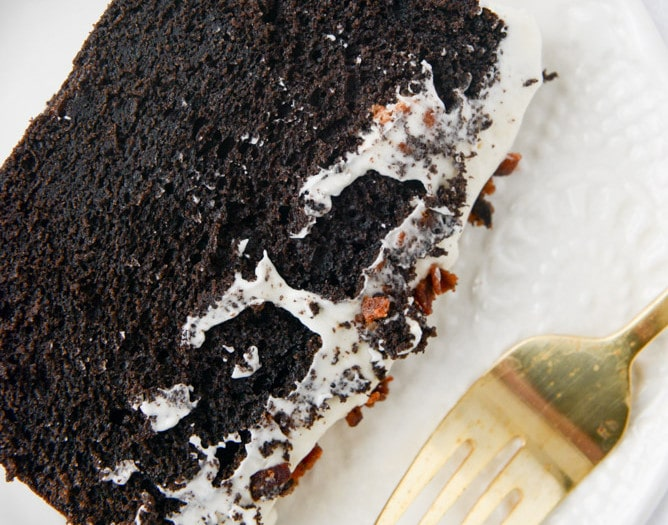 Chocolate Pound Cake With Bacon Bourbon Frosting