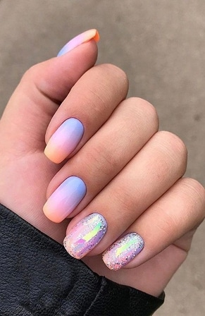 Mixed Nail Designs