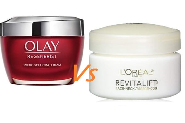 Olay Regenerist Vs L Oreal RevitaLift Anti Aging Products