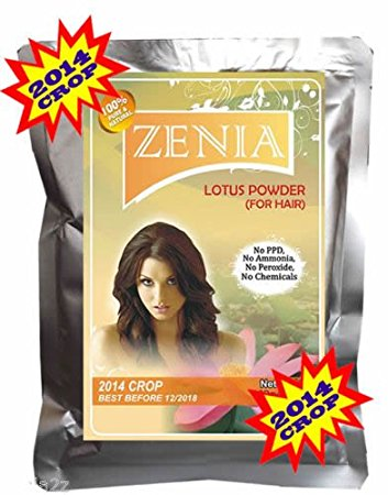 100g Zenia Lotus Powder Hair Care Conditioning Naturally