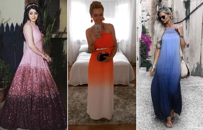 Perfect Colour Combination For Dresses - Ombre test