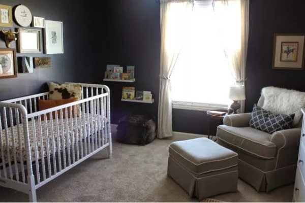 Farmhouse Black Nursery Walls