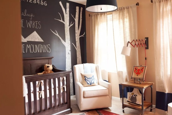 Rustic Neutrals Nursery Walls