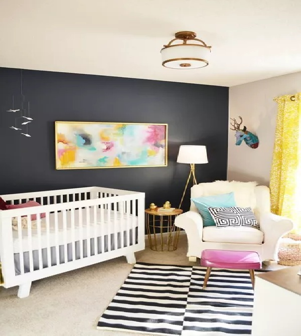 Modern Mix Nursery Walls