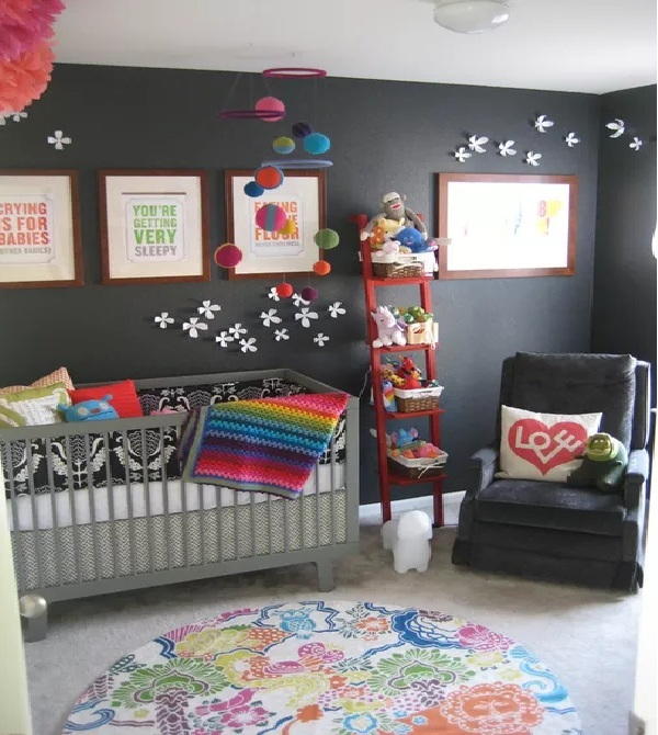 Rainbow Bright Nursery Walls