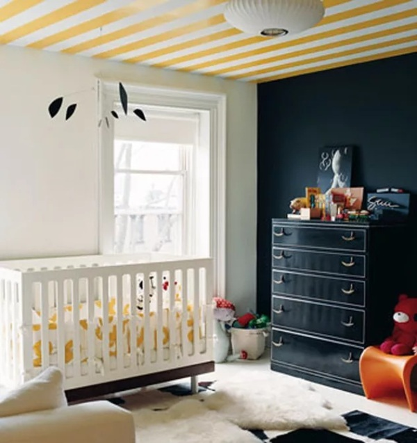 Black and Yellow Nursery Walls