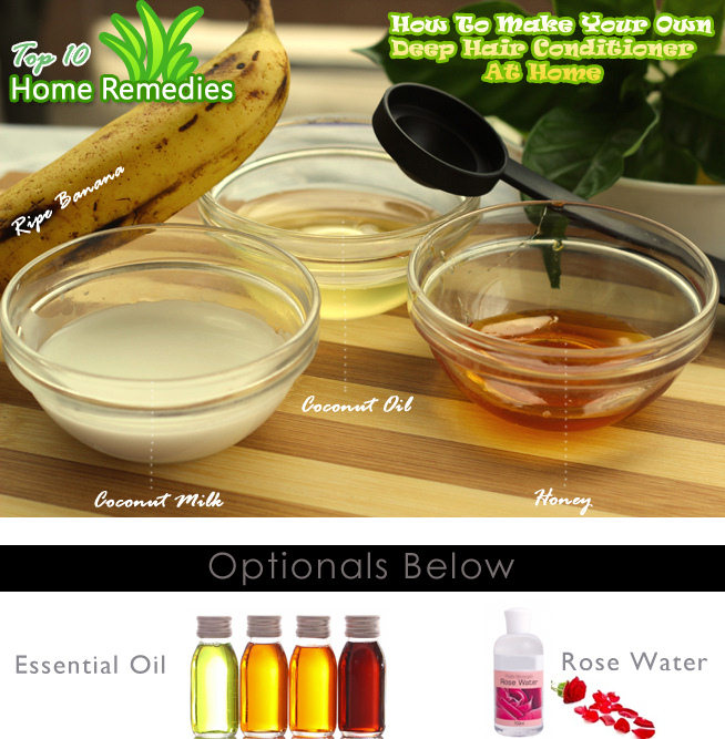 Banana Deep Hair Conditioner Steps