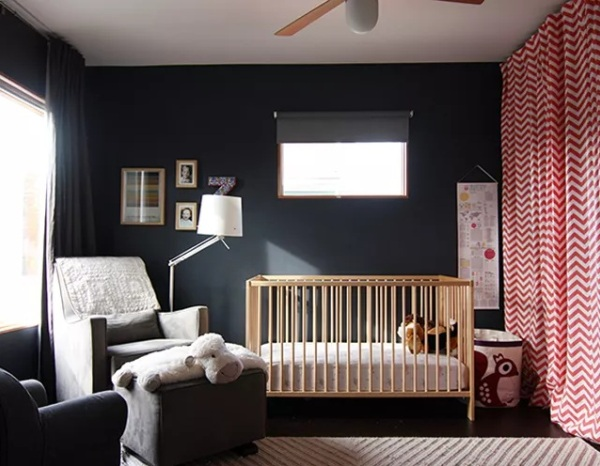 Black and Red Nursery Walls