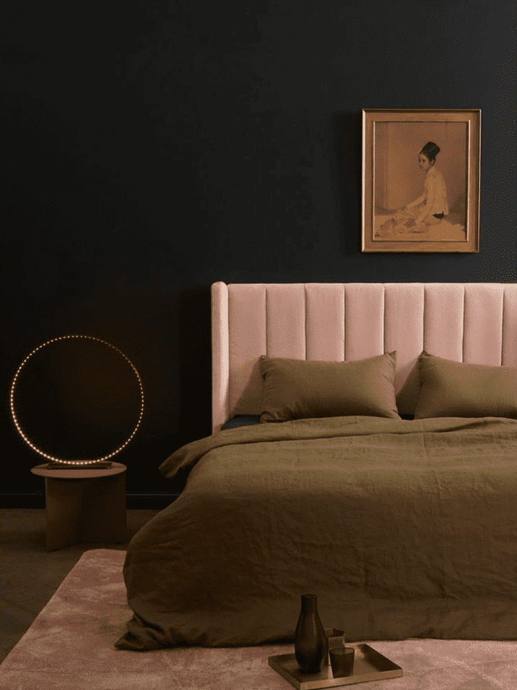 Rooms with Moody Schemes - Add Blush Tones