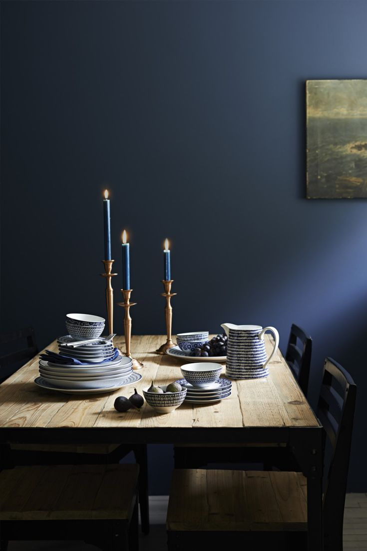 Rooms with Moody Schemes - Deep Blues and Candlelight