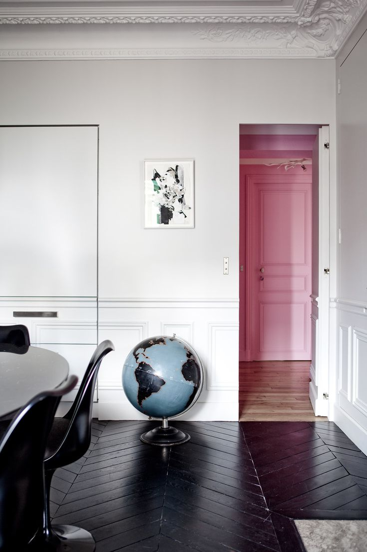 Rooms with Moody Schemes - Embrace Deep, Dark Floors