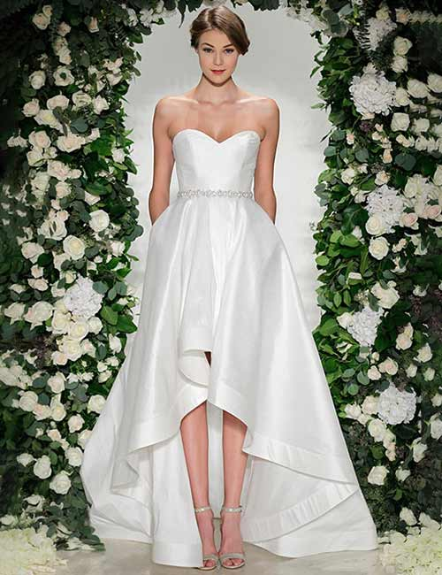 Simple And Affordable Wedding Dresses - Asymmetrical-Satin-Dress