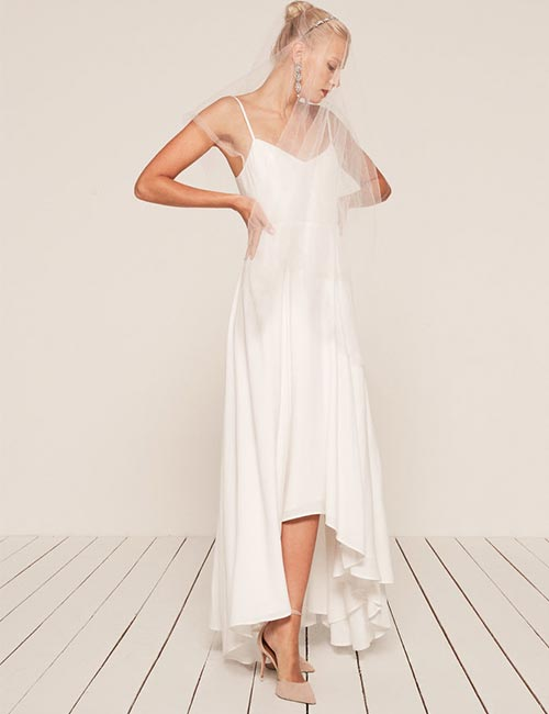 Simple And Affordable Wedding Dresses - Satin-High-Low-Hemline (1)