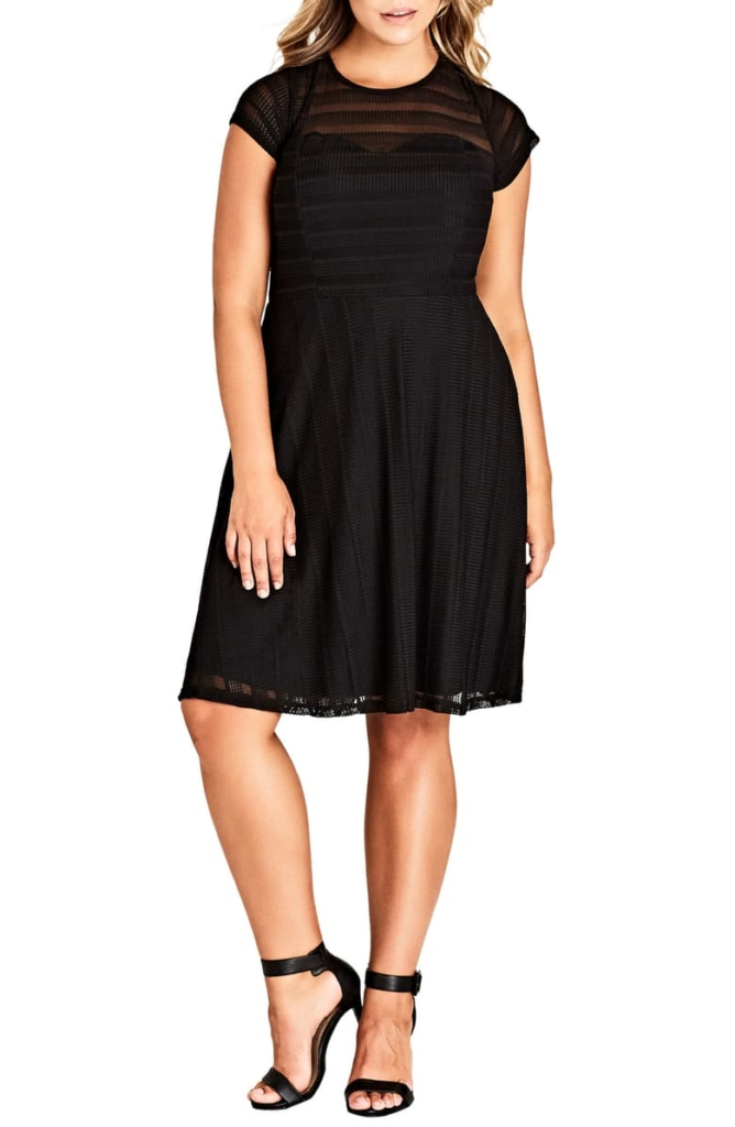 Textured Heart Dress CITY CHIC