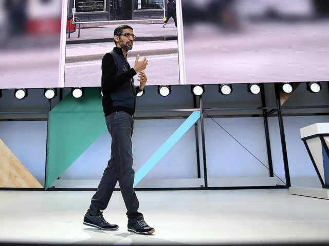 Google CEO Sundar Pichai usually keeps it casual in track jackets, jeans, and sneakers.