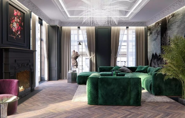 2021 Living Room Paint Colors Green 1