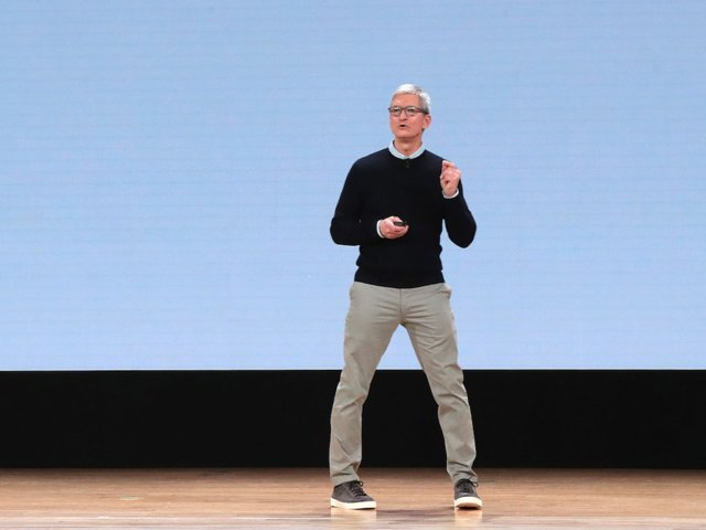 Tim Cook, CEO of Apple, typically keeps it business casual.