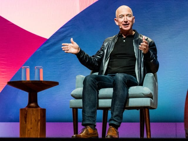 Amazon CEO Jeff Bezos has undergone a bit of a transformation in the last year, and he now has the tougher-looking wardrobe to match.