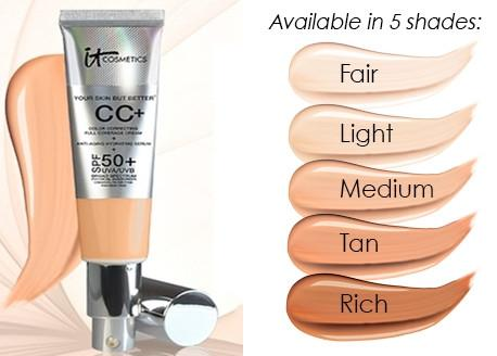 Best Full Coverage: IT Cosmetics Your Skin But Better CC+ Cream with SPF 50+