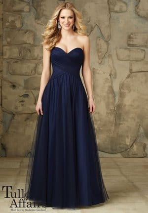Don't always go for the trendiest with evening gowns