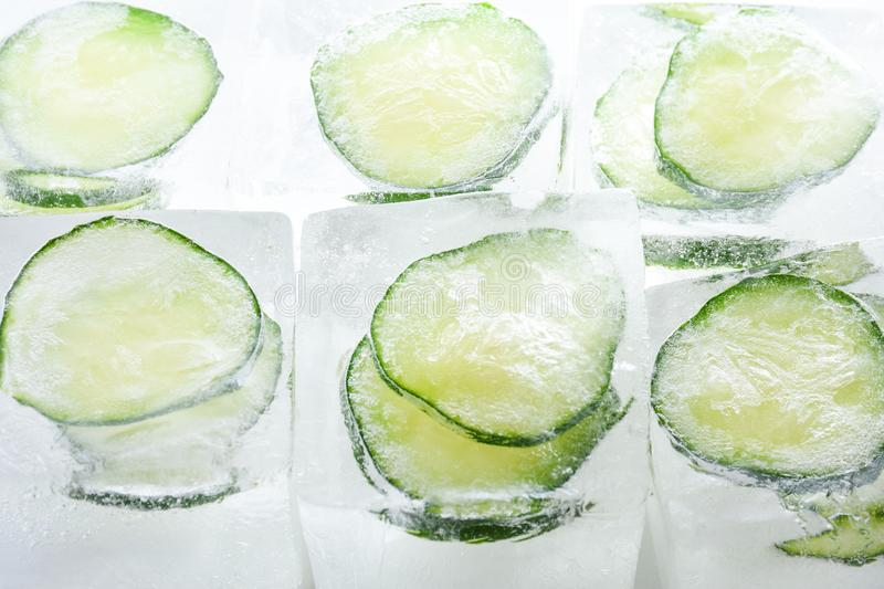 6 Ice Cube Recipes for Face - Cooling Cucumber Ice Cubes