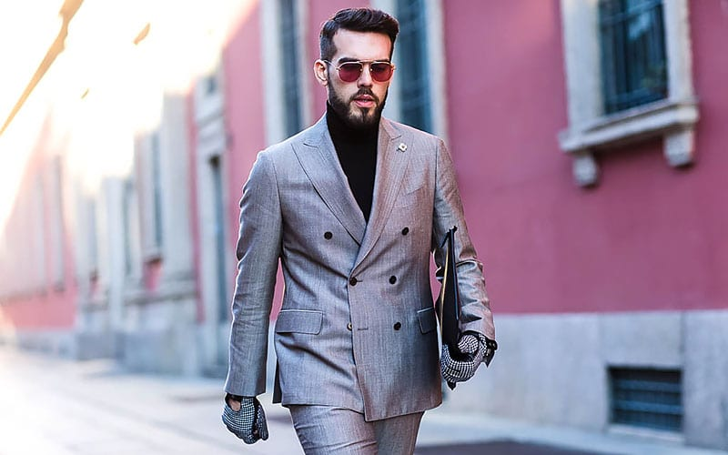 Gray Suit With Brown Shoes - Don't Blend In