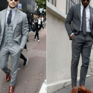 How To Wear A Gray Suit With Brown Shoes
