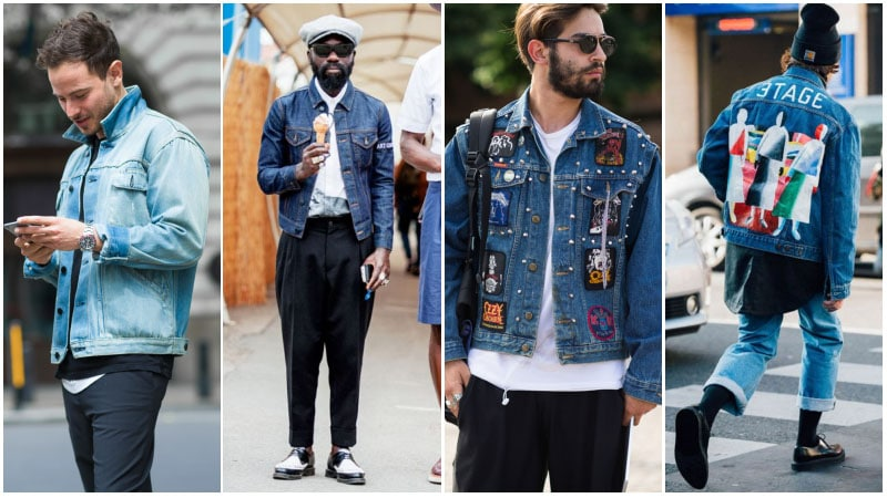 Blue denim in style