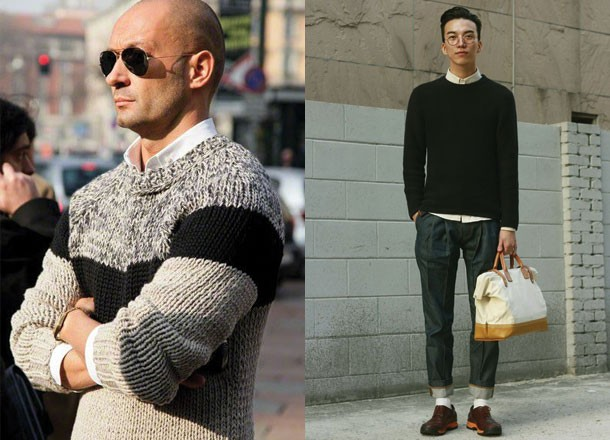 6 Ways on How To Wear Smart Casual Sweaters - 1 The Crew Neck