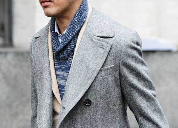 6 Ways on How To Wear Smart Casual Sweaters - 4 The Shawl Collar
