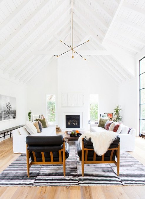 How To Decorate With Sheepskin Rug - Mix Texture and Shape in the Living Room