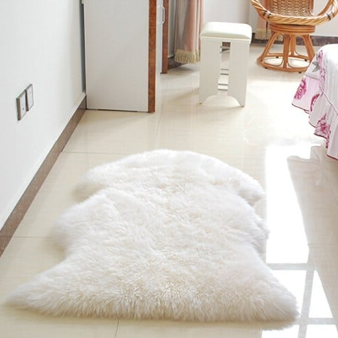 Soft Sheepskin Chair Cover Seat