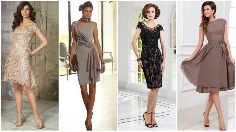 Short Mother of the Bride Dresses